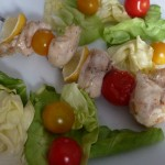 Brochettes de poulet au citron (barbecue)